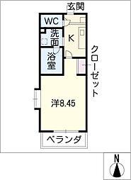 COZY APARTMENT YADA[2階]の間取り
