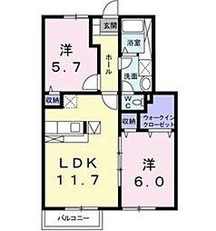 プラシード・カーサII[1階]の間取り