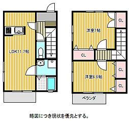[テラスハウス] 愛知県名古屋市千種区茶屋が坂1丁目 の賃貸【/】の間取り