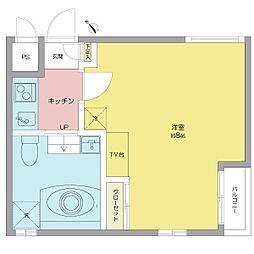 パークサイド神宮 (パークサイドジングウ)[3階]の間取り
