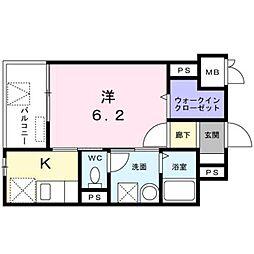 東京メトロ丸ノ内線 西新宿駅 徒歩4分の賃貸マンション 3階1Kの間取り
