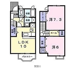 千葉県習志野市香澄5丁目の賃貸アパートの間取り