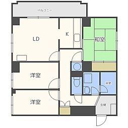 大通ハウス[4階]の間取り