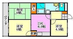 クレール石井[3階]の間取り