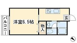 コーポ田中[203号室]の間取り