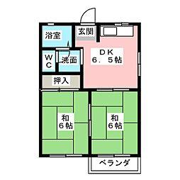 ファミーユカタセ C[1階]の間取り