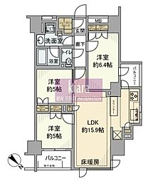 プレシス横濱関内パークアベニュー[10階]の間取り