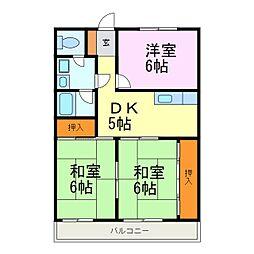 愛知県知多郡武豊町字里中の賃貸マンションの間取り