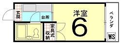 ロイヤルハイツ上賀茂[202号室]の間取り