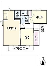 H・翔・すずらん館[2階]の間取り