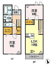 [テラスハウス] 東京都国分寺市本町3丁目 の賃貸【/】の間取り