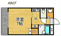 シェポールK&M[8階]の間取り