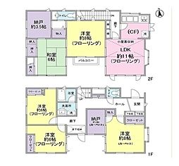 [一戸建] 東京都新宿区中井2丁目 の賃貸【/】の間取り