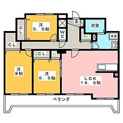 Brilliant Stage[5階]の間取り