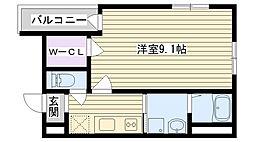 フジパレス鶴見II番館[1階]の間取り