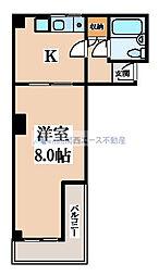 シャトーウエダ[4階]の間取り