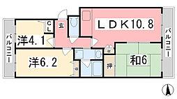 サニーハイツ嵐山[2階]の間取り