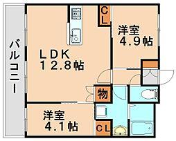 光第1ビル[2階]の間取り