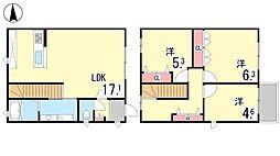 [タウンハウス] 兵庫県神戸市東灘区住吉山手4丁目 の賃貸【兵庫県 / 神戸市東灘区】の間取り