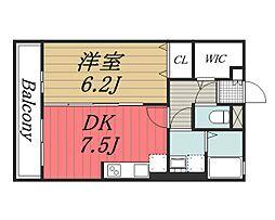 千葉県千葉市中央区祐光1丁目の賃貸アパートの間取り