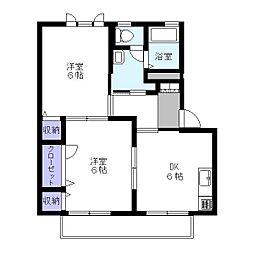 ドミールC[1階]の間取り