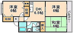 兵庫県伊丹市寺本1丁目の賃貸アパートの間取り