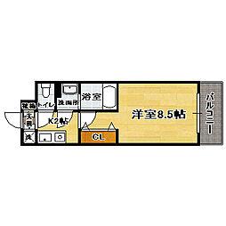 福岡県福岡市博多区美野島2丁目の賃貸マンションの間取り