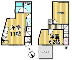 [テラスハウス] 神奈川県鎌倉市笛田3丁目 の賃貸【/】の間取り