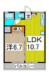 武蔵野コーポ[3階]の間取り
