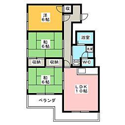 丸田ハイツ[3階]の間取り
