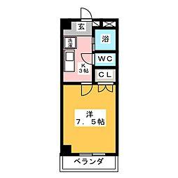 メゾンド衣川[2階]の間取り