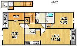 サニーパークII[2階]の間取り