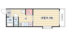ROYAL SHIP[6階]の間取り