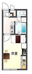 レオパレスShima[1階]の間取り