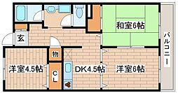 兵庫県神戸市中央区野崎通1丁目の賃貸マンションの間取り