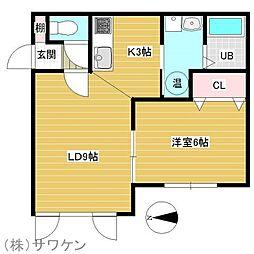 NOIR[2階]の間取り