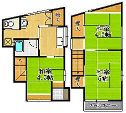 兵庫県宝塚市泉町の賃貸アパートの間取り