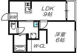 ベストレジデンス東三国[5階]の間取り