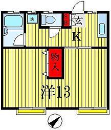 サンコーポヤマブン[1階]の間取り