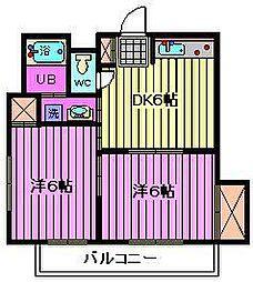 埼玉県さいたま市南区鹿手袋7丁目の賃貸アパートの間取り