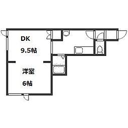 キラメック円山表参道II[205号室]の間取り