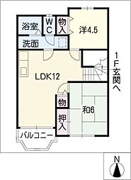 エリートメゾンOKA[2階]の間取り