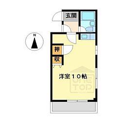 カーサコモダ向ヶ丘[2階]の間取り