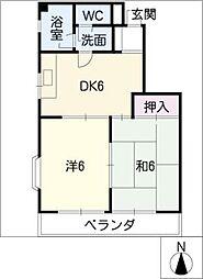 サン・ツイン[2階]の間取り