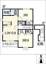 インサイド II[2階]の間取り
