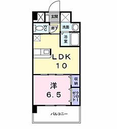 エヴァーグリーンN[8階]の間取り