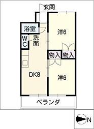 清風マンション[2階]の間取り