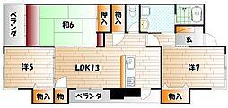 レリディアンスビューマ[1階]の間取り