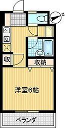 コンフォート鶴牧[305号室]の間取り