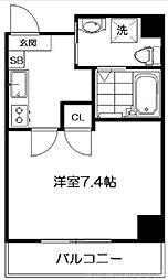 サクシード伏見京橋 5階1Kの間取り